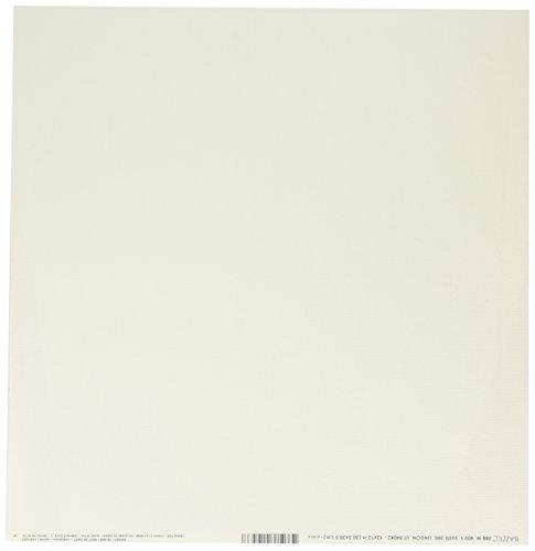Bazzill Basics Papier, 25 Blatt, zum Aufstecken, Grafikmuster/Puff Beige, Creme (30.5 X 30.5 cm) -