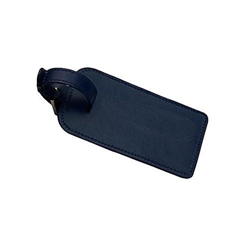 étiquette pour bagage en microfibre, Sac en cuir Tag ID Identificateur étiquettes pour voyage Valise Bagage Valise étiquette Sports Sacs, marron