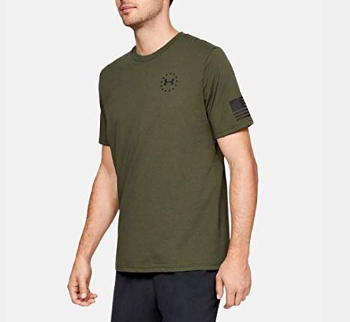 Under Armour Herren Freedom Express T-Shirt kurzärmelig, Marine Od Green (390)/Black, Large (Marine Under Armour)