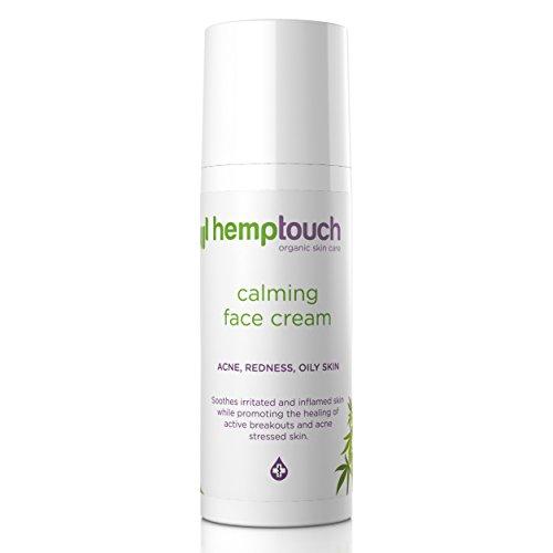 Hemptouch - biologische, beruhigende Hanf-Gesichtscreme, ausgleichende Formel für zu Akne oder Unreinheiten neigende fettige oder...