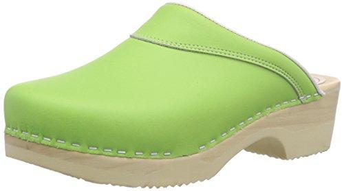 Gevavi  4010 BIGH. flexibler, Mules femmes Vert - Grün (grün(l.groen) 18)