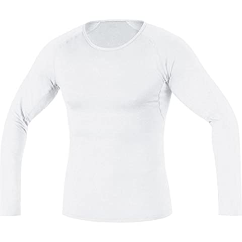 GORE BIKE WEAR Herren Thermo-Unterzieh-Shirt, Langarm, Stretch, GORE Selected Fabrics, BASE LAYER Thermo Shirt long, Größe: XXL, Weiß,