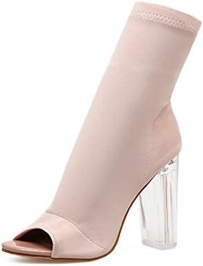 ZHZNVX La molla nuova sexy sexy sexy tessuto stretch con alta bocca pesce sandali femmina di spessore trasparente con stivali di frossodo, beige 35 B07CLM4MN6 Parent | Di Alta Qualità E Low Overhead  | Pratico Ed Economico  bdd1b0