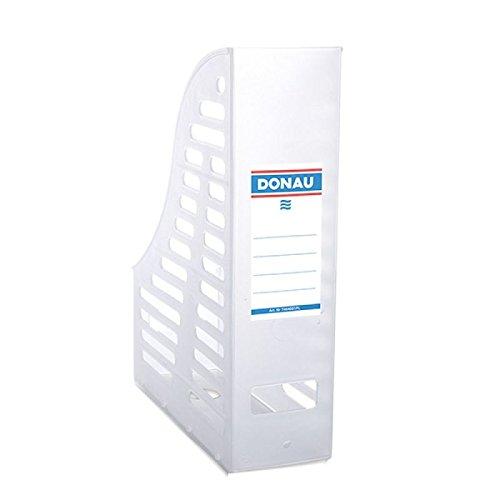 Danubio 7464001pl de 09revistero, durchbrochen, PP, A4, plegable, color blanco transparente