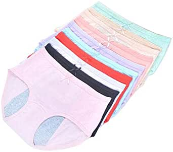 Okg Girls Period/Pants Heavy Flow Cotton Leakproof Period Underwear Menstrual Panties Low Rise Briefs Knickers for Teenage Pack of 3