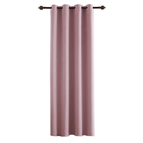 Deconovo tende oscurante termica isolante con occhielli per tua casa 100% poliestere rosa chiaro 140x260 cm un pannello