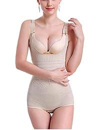 DDJX Mujer Moldeadora Fajas Ropa Interior Cintura A Tope Molduras Triangulares Siamesas Pecho & Esculpir El