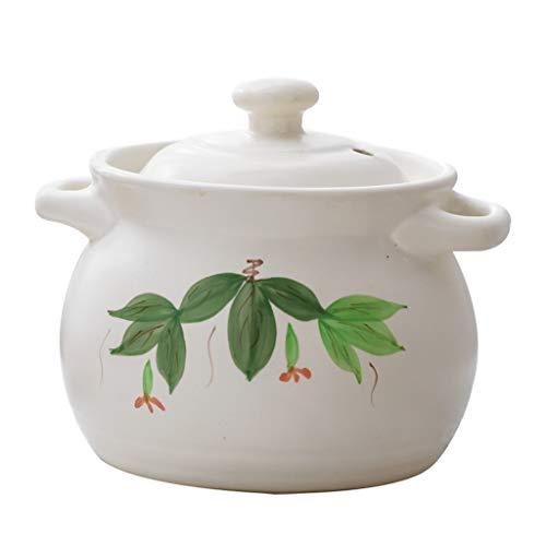 Pot blanc Pot ménager petit pot à lait Pot à soupe Pot à fond plat Pot à risotto Pot à cocotte Pot à usages multiples (taille : 19CM)