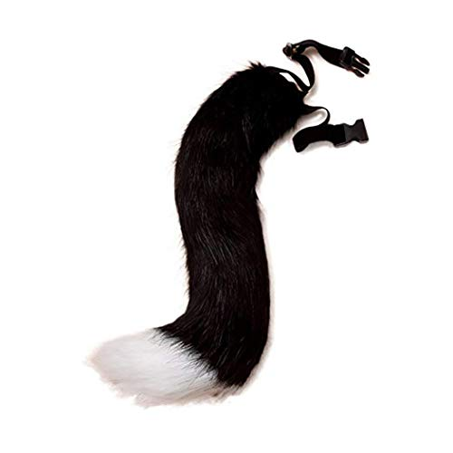 ZOYLINK Faux Fur Tail Creative Fluffy Tail Halloween Party Costume for Adults - Teen Fox Kostüm