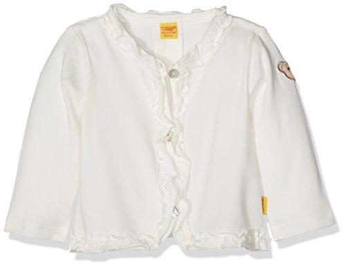 Steiff Baby-Mädchen Sweatshirt Bolero 1/1 Arm, Weiß (Cloud Dancer 1610), 68