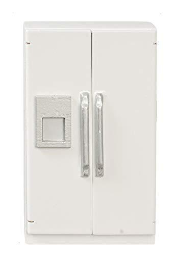 Melody Jane Puppenhaus Weiß Kühlschrank mit EIS Spender Modern Küchenmöbel 1:12 Maßstab (Maßstab 1 Kühlschrank 12)