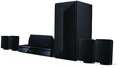 LG LHA725 5.1 sistema de cine en casa Blu-ray 3D (1000 vatios, Smart TV, DLNA, Bluetooth, escala de 1080p) negro