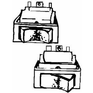 Seachoice 50–12441Schalter Miniatur, On/Off/On, Rot, 6Terminals (Kippschalter Seachoice)