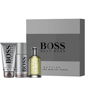 Set de regalo Hugo Boss Bottled 100ml Eau de Toilette + 150ml Desodorante en spray + 150ml Gel de ducha (precio: 66,50€)