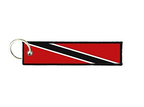 akachafactory Schlüsselanhänger Auto Moto anhänger Flagge Fahne flaggen Trinidad Tobago (Trinidad Auto Fahne)