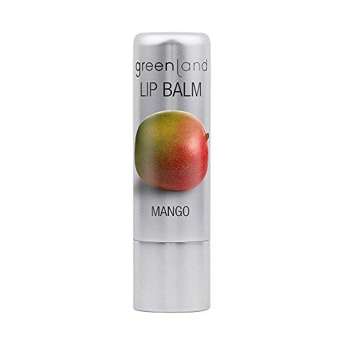 Greenland Lippenpflege Mango | Pflegender Lippenpflege ohne Mineralöl und Parrafine | Verwöhnender Lippenpflegestift für trockene Lippen