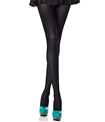 PINKIT Women's Black Opaque Pantyhose, 80 Denier, Matte Soft Comfortable Waistband (Almost Non Transparent)