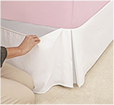 The Mill Shop Elasticated Box pleat valance White Double