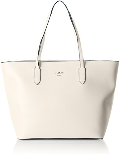 Jeans Lara Shopper Lhz Henkeltasche, Weiß (Offwhite), 17x29x32 cm (Weiß-glänzenden Geschenk-taschen)