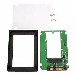 [Envoi GRATUIT 7~12 jours] mSATA Mini PCI-E SSD 2,5 SATA convertisseur adaptateur avec etui // mSATA Mini PCI-E SSD to 2.5 SATA Converter Adapter With Case