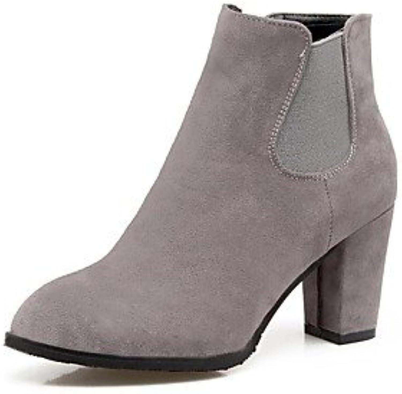 rtry des chaussures chaussures chaussures automne hiver de confort similicuir bottes chunky talon round toe bott ines / bo ttines p our partie &...b076crckhv parent 171386