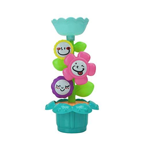 T TOOYFUL Baby Badespielzeug Blume Wassermühle Badewanne Spielzeug Badespaß für Bad Dusche