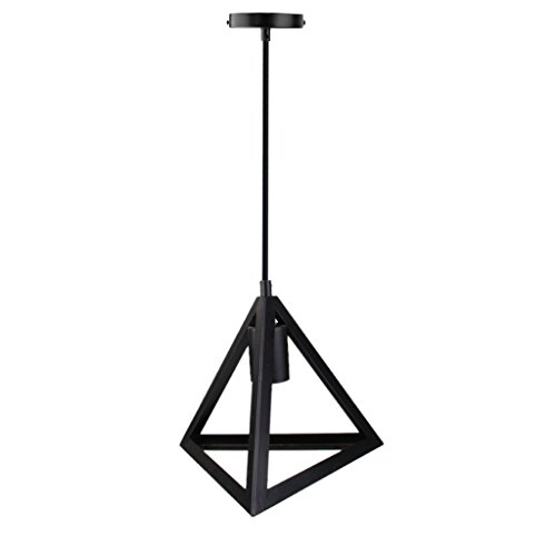Generic Edison Vintage 3D Triangle Design Pendant Light Wired Hanging Lampshade