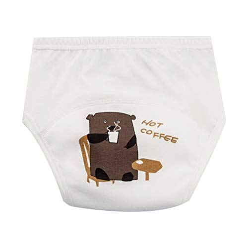 lujiaoshout Kinder Nappy Baumwollunterwäsche-Training Pants Toilette Potty Baby-Tuch-Windel-Abdeckung, Baby gewickelte Höschen (Geeignet für Babys von 6 bis 12 kg) 1pc Bären-Muster
