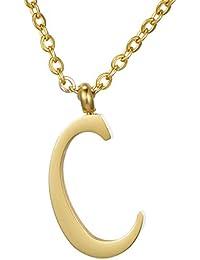 Morella Collar de Oro y Acero Inoxidable con Colgante Letras