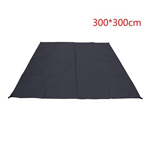 Camping Zeltplane Markise, Sonnenschutz Sun Shelter Groundsheet, Teppich Hängematte Plane Baldachin Abdeckung, Picknick im Freien Plane Mat(300x300cm,Schwarz)