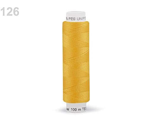 10stück 126 Cyber Yellow Nähgarn Aus Polyester Unipoly Wickel 100 M, Garne, Nähgarne, Kurzwaren -