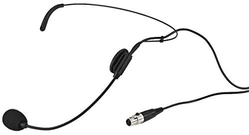 MONACOR HSE-72 Elektret-Kopfbügelmikrofon mit Nierencharakteristik, schwarz (Mikrofon Headset, Xlr)
