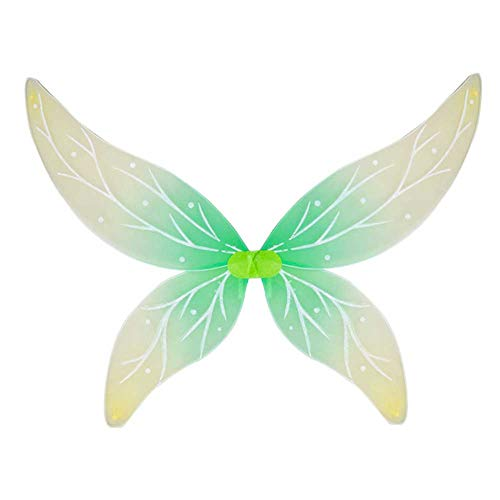 Mädchen Plüsch Schmetterlings Flügeln Kostüm - GLXQIJ Erwachsene Kinder Mädchen Schmetterling Engel Fee Flügel, Geburtstagsfeier Verkleiden Sich Flügel, Halloween-Kostüme, Transparent, Leicht,Green,80 * 70CM