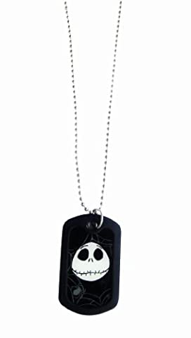 BB Designs Europe The Nightmare Before Christmas Glow In The Dark Dog Tag, 27.5cm Chain