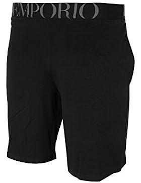 Emporio Armani Hombre Pantalones cortos de logo pijama, Negro