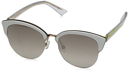 Christian dior diorun nq bjl, occhiali da sole donna, oro (rose gold white yellow/brown mirror silver), 65