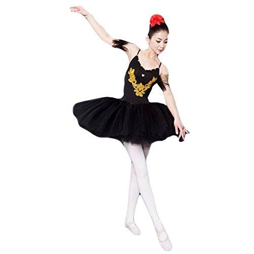 XL-Erwachsene Schwarz-Ballett-Kleid / Sling Ballettrock / Schwanensee (Kostüm Schwarz Ballett)