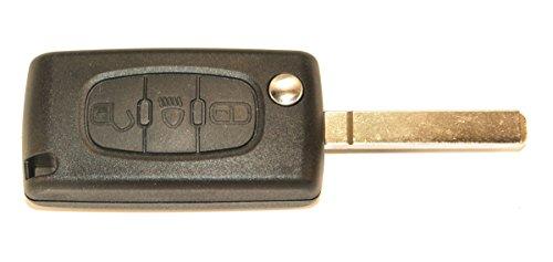 KLEMAX Coque de clé Adaptable pour Peugeot 107, Peugeot 207, Peugeot 308, Peugeot 407 référence: PSA307P