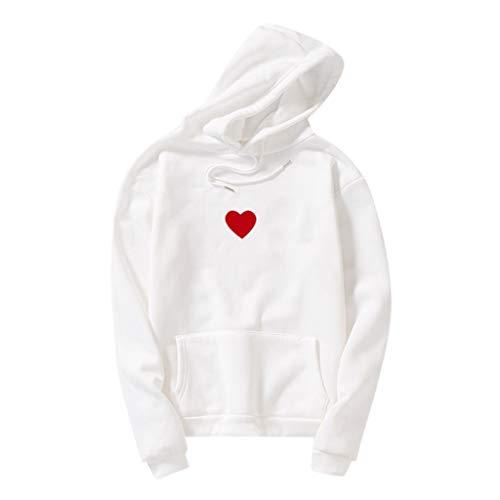 GOKOMO Damen Langarm Hoodie T-Shirt Kapuzenshirt Mit