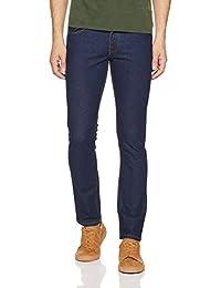 Newport University Men's Slim Fit Jeans (NUJN1029A_Dark Blue raw_32)