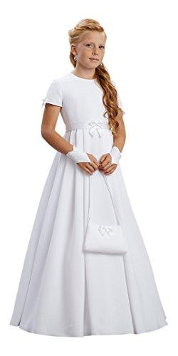 YES Kommuniontasche Brauttasche Tasche Umhängetasche Kommunion Hochzeit Blumenmädchen Täschchen Arlette