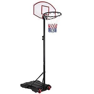 Sportana Basketballkorb 179-209cm Ringhöhe verstellbar 30kg Standfuß...