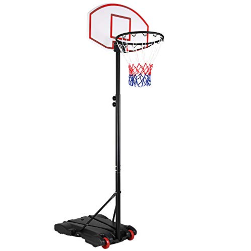 Sportana Basketballkorb 192-288cm verstellbar 30kg Standfuß Transportrollen Korbanlage Basketballständer Basketball Korb Outdoor
