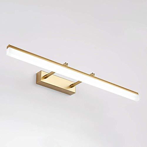 YJD Einstellbare Teleskop LED Spiegel Scheinwerfer Spiegel Kabinett Lampe Badezimmer mit einfachen Wandleuchte Hardware Material Make-up Lampe,Weißes Licht 90cm -
