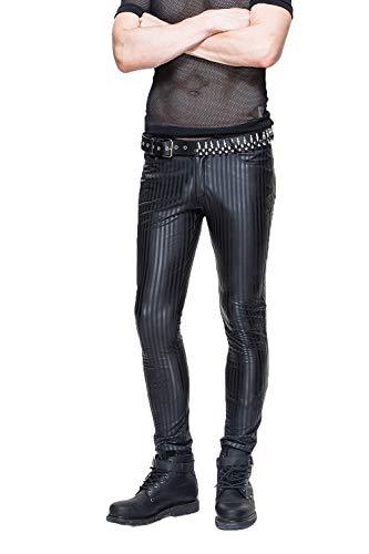 Devil Fashion Steampunk M?nner Streifen Casual Lange Hosen Casual Hosen, M