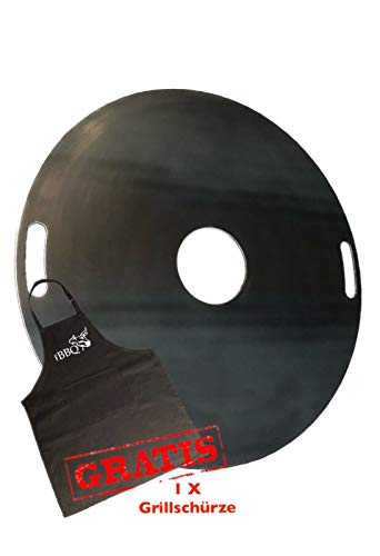 A. Weyck Tools Feuerplatte 100cm für Feuertonnen & Kugelgrills Grillplatte Plancha BBQ