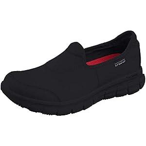 Skechers SURE TRACK, Women's Safety Shoes, Black (Black Leather Bbk), 5 UK (38 EU)
