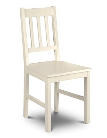 Julian Bowen Cameo Chair, Stone White