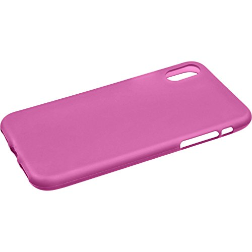 PhoneNatic Custodia Apple iPhone X Cover bianco stuoia iPhone X in silicone Case Rosa caldo