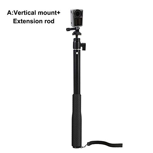 Mollylover Selfie Stick for DJI OSMO Pocket Handheld Gimbal Extension Rod Selfie Stick with Screw Adapter 0.25 inch - 9 Portable Tripod Screen